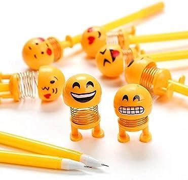 Package of 3 Assorted Color and Design 0.5mm Black Erasable Emoji Gel Ink Pens