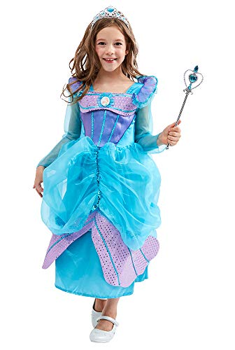 TOKYO-T Ariel Inspired Dress Costume for Girls Mermaid