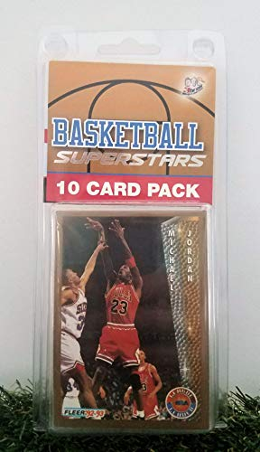 Michael Jordan- (10) Card Pack NBA Basketball Superstar Jordan Starter Kit all Different cards. Comes in Custom Souvenir Case! Perfect for the Jordan Super Fan! by 3bros (Basketball Cards Jordan Michael)