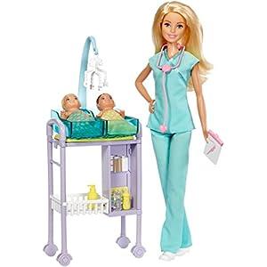 Barbie Baby Doctor Playset - 413TUFm1OPL - Barbie Careers Baby Doctor Playset