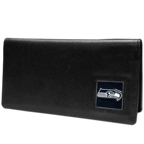 NFL Seattle Seahawks Leather Checkbook (Seattle Checkbook Cover)