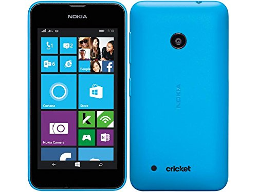 Nokia Lumia 530 Windows SmartPhone (Cricket) No Contract - Blue (Nokia Lumia 530 Cricket)