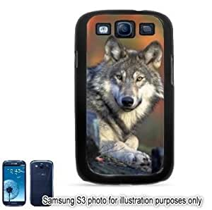 Gray Wolf Photo #2 Samsung Galaxy S3 i9300 Case Cover Skin Black