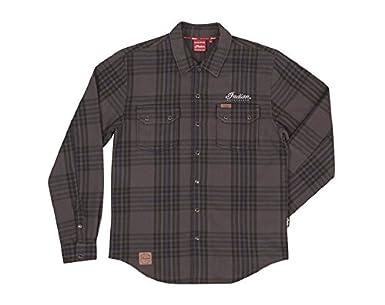 Camisa india de cuadros para motocicleta, para hombre, gris - 2XL: Amazon.es: Amazon.es