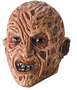 Kids Freddy Krueger Mask (Freddy Krueger 3/4 Mask Costume Accessory)