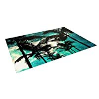 Kess InHouse Caleb Troy Palm Trees and Stars Outdoor Floor Mat/Rug, 4 by 5-Feet