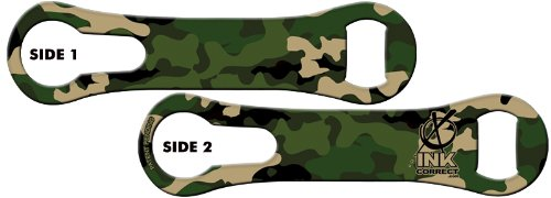V-ROD™ Bone Bottle Opener and Pour Spout Remover: Military Camo Green For Sale
