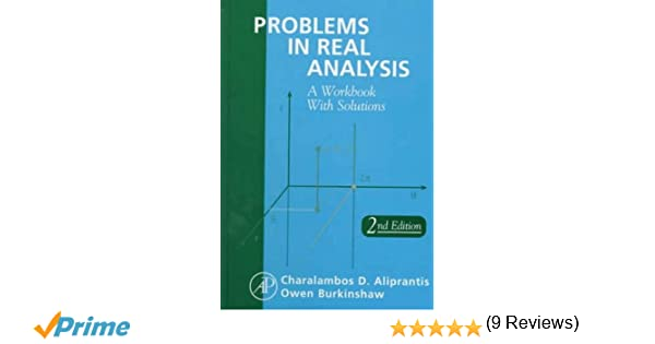 Amazon problems in real analysis second edition 9780120502530 amazon problems in real analysis second edition 9780120502530 charalambos d aliprantis owen burkinshaw books fandeluxe Gallery