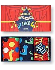 Happy Socks Heren Vaderdag 3-Pack Gift Set Sokken