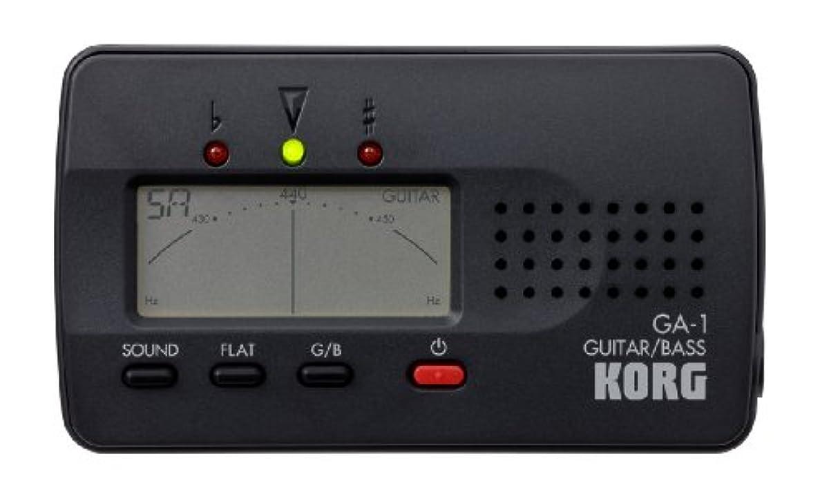 [해외] KORG코르그 튜너 기타 /베이스 용 GA-1
