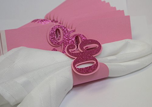 All About Details Pink 90 Napkin Holders, 12Pcs