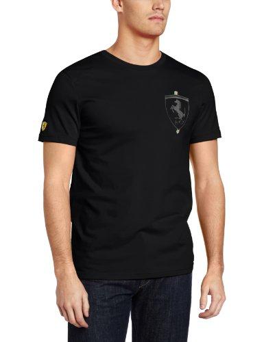 PUMA Men's Ferrari Logo Tee, Black, XX-Large