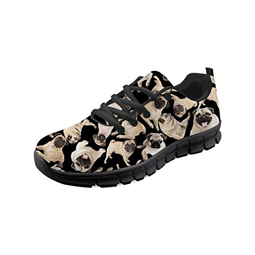 pug Nopersonality up Lace Shoes Running Walking Cat Sneakers Women Pattern 2 with Lightweight Girls 76wqS7a
