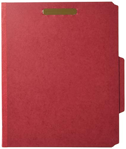 Nature Saver Tyvek Gusset Classification Folder, Red (NAT01051)