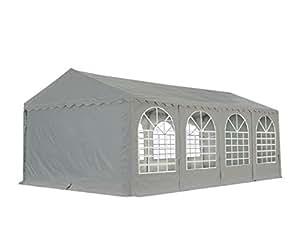 XXL 5x8 m heavy duty party tent, marquee PVC grey