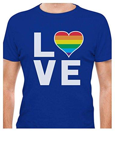 Gay Love - Rainbow Heart Gay Pride Awareness T-Shirt Small -