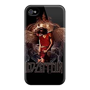 Protector Hard Phone Cover For Iphone 4/4s With Allow Personal Design Colorful Led Zeppelin Pattern LauraAdamicska