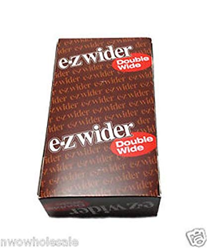 SuperStore77 EZ Wider Double Wide Rolling Papers 50ct Retailers Box Free SuperStore77 Gift Included ()