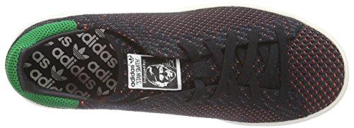 adidas Stan Smith Primeknit - Zapatillas Unisex adulto Negro - Schwarz (Core Black/Green/Chalk White)