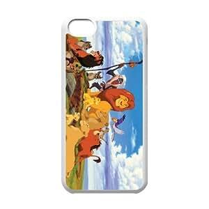 J-LV-F Print Lion King Pattern PC Hard Case for iPhone 5C