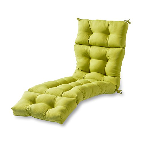 Greendale Home Fashions 72-Inch Indoor/Outdoor Chaise Lounger Cushion, Kiwi (Cushions Discount Iron Furniture Wrought Patio)