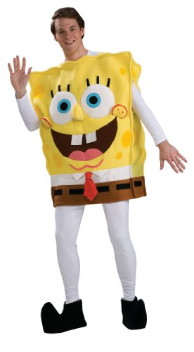 Spongebob Squarepants Costume For Adults (Rubie's Costume Spongebob Squarepants Deluxe Tunic, Multicolored, One Size Costume)