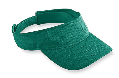 (Augusta Sportswear Athletic Mesh Visor, One Size, Dark Green)