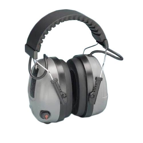 Elvex COM-655 Electronic Non-Foldable Ear Muffs with Impulse Filter & 3.5mm Audio Input Jack, 25 dB NRR, Weight: 12.8 oz. by Elvex