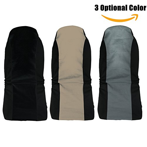 Universal Front Seat Covers  Flat Cloth  For Crossovers Suv  Pack Of 1Pc  By Delight Eshop  Grey