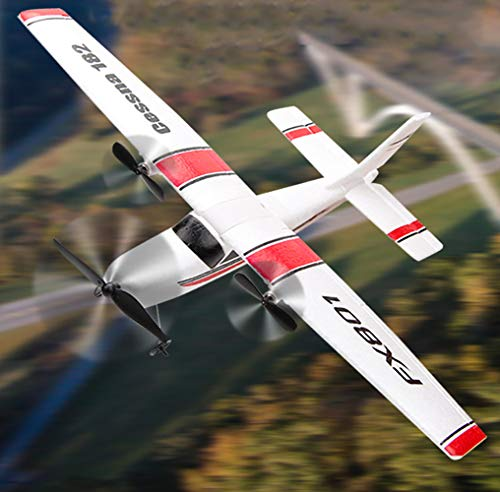 RC Plane 2.4Ghz 2 Channels RTF RC Airplane, RC Aircraft with 3-Axis Gyro for Beginner Easy to Fly Glider Toys (Wingspan 310mm) (Rc Plane Kit Electric)