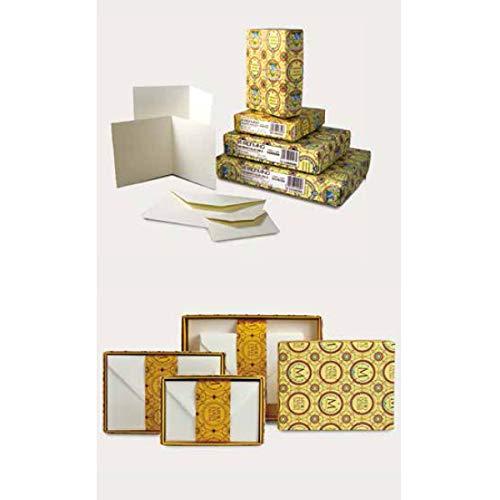 Fabriano Medioevalis Stationery- Medioevalis Folded Card 4.5x6.75 Inch Box of 100