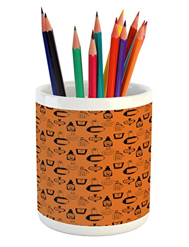 Ambesonne Apothecary Pencil Pen Holder, Halloween Themed Potions
