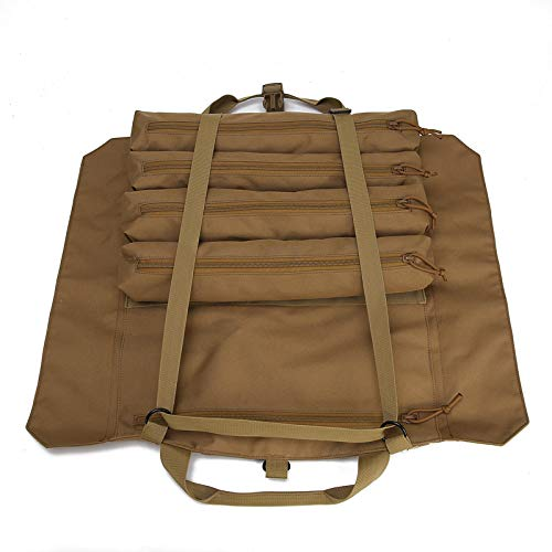 Wrench Roll Up Pouch Tools Organizer Bag Super Storage with 23 pockets (Tan) by Garry Tactical (Image #8)