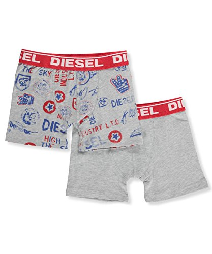 Diesel Kids Boys Clothing (Diesel Boys' 2-Pack Boxer Briefs - Gray, s)
