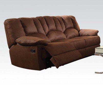 Acme Furniture 52145 Obert Sofa (Motion), Dark Brown Nubuck
