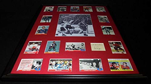 1972 Summit Series Team Canada Signed Framed 18x24 Photo Display - NHL Team Plaques and Collages (Team Signed Collage)