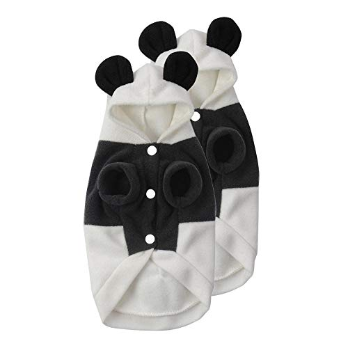 Flameer 2pcs Pet Dog Cat Puppy Warm Hoodie Coat Cute Panda Costume Apparel for Small Dogs]()