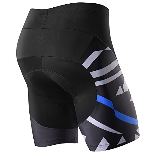 Nooyme Men's Bike Shorts with 3D Pad for Bicycle Cycling -Ride to The World with Map Design (XXL, Blue) - Short Mujer