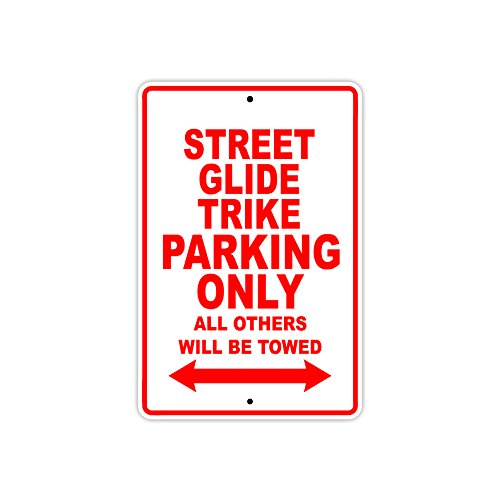 HARLEY DAVIDSON STREET GLIDE TRIKE Parking Only All Others Will Be Towed Motorcycle Bike Novelty Garage Aluminum 8