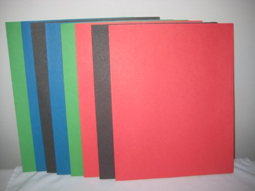 Staples Colored Paper - Assorted Staples Paper Folders (8 pack)