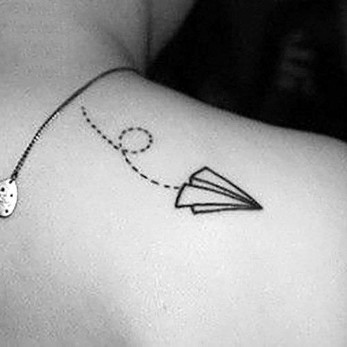 Vollter 10pcs Avión de Papel tatuaje / Rose Sticker impermeables ...