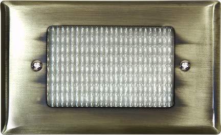 DABMAR LIGHTING LV618-ABS Brass Recessed Open Face Brick/Step/Wall Light, Antique Brass