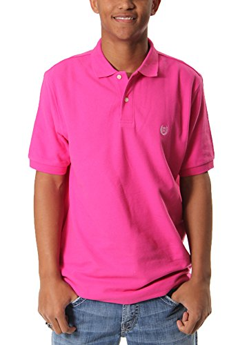 - Basoc S S Knit Polo in Grand Prix Pink By Chaps (XL)