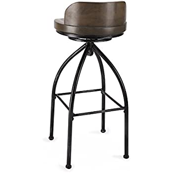 Amazon Com Fivegiven Rustic Industrial Bar Stools 30 Inch
