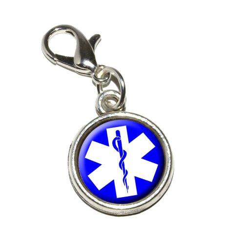 ar of Life Medical Health EMT RN MD Antiqued Bracelet Pendant Zipper Pull Charm with Lobster Clasp ()