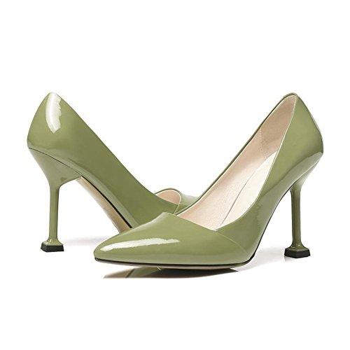 Moda Zapatillas 35 Pie eur39uk665 9 Estilete Talones Señoras Green Mujeres Dedo 43 Grande Fiesta Nvxie Puntiagudo Zapatos 45 Eur Corte Vestir uk Del Negro Tobillo Alto Tamaño qOFapn