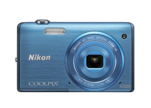 - Nikon COOLPIX S5200 Wi-Fi CMOS Digital Camera with 6x Zoom Lens (Blue) (OLD MODEL)