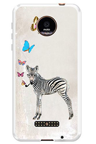 Case for Moto Z Force MUQR Cover Silicone Rubber Protective for Motorola for Moto Z Force & Funny Zebra Animal Theme