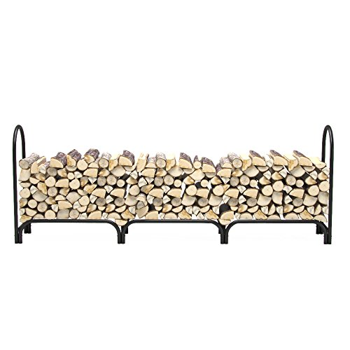 Regal Flame 8 ft Deluxe Heavy Duty Firewood Log Rack for Fireplaces and Fire Pits to Enjoy a Real Fire or Complement Vent-Free, Propane, Gas, Gas Inserts, Ethanol, Electric, Indoor Outdoor Fireplaces (Deluxe Electric Fireplace Insert)