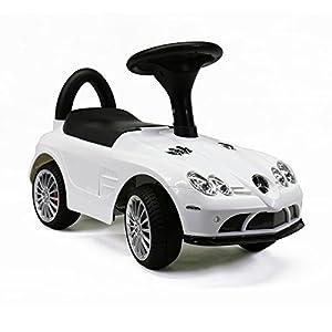push car for kids licensed mercedes benz slr 722s white